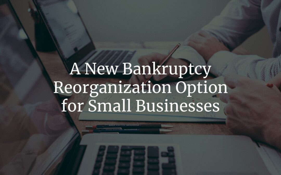A New Bankruptcy Reorganization Option for Small Businesses